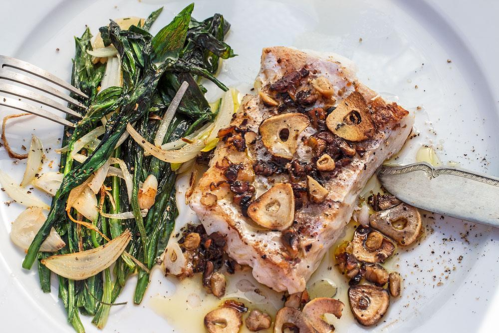 Fischfilet mit Bärlauchgemüse