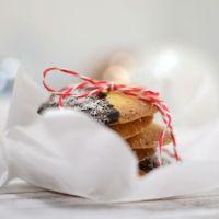 Orangen-Biskuits und frohe Weihnachten
