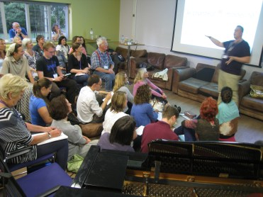 Tuesday - There was a bit of room left on the floor for Allan Wright's Power and Projection Workshop