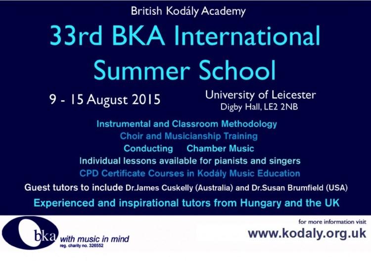Kodály Summer School 2015