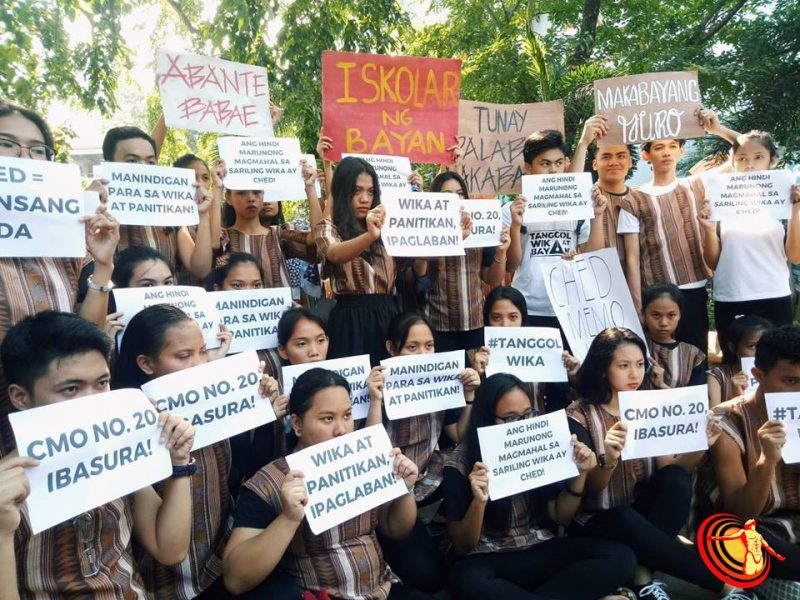 Removal of Filipino language and literature as required