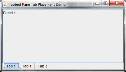JTabbed Pane Tab Placement
