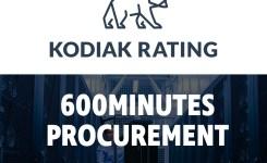 Kodiak Rating joins the festivities at 600 Minutes Procurement.