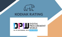 Kodiak Rating selected as one of 20 innovative startups to join Digital Procurement World 2019.