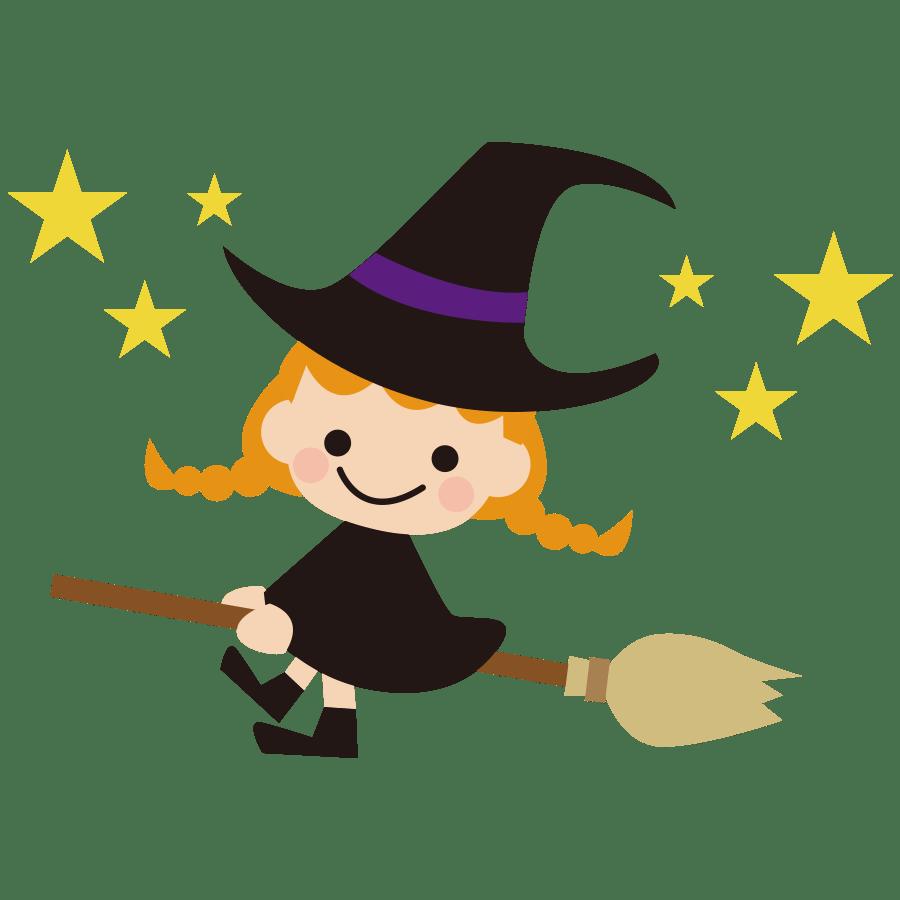 ハロウィンの魔女のかわいいイラスト