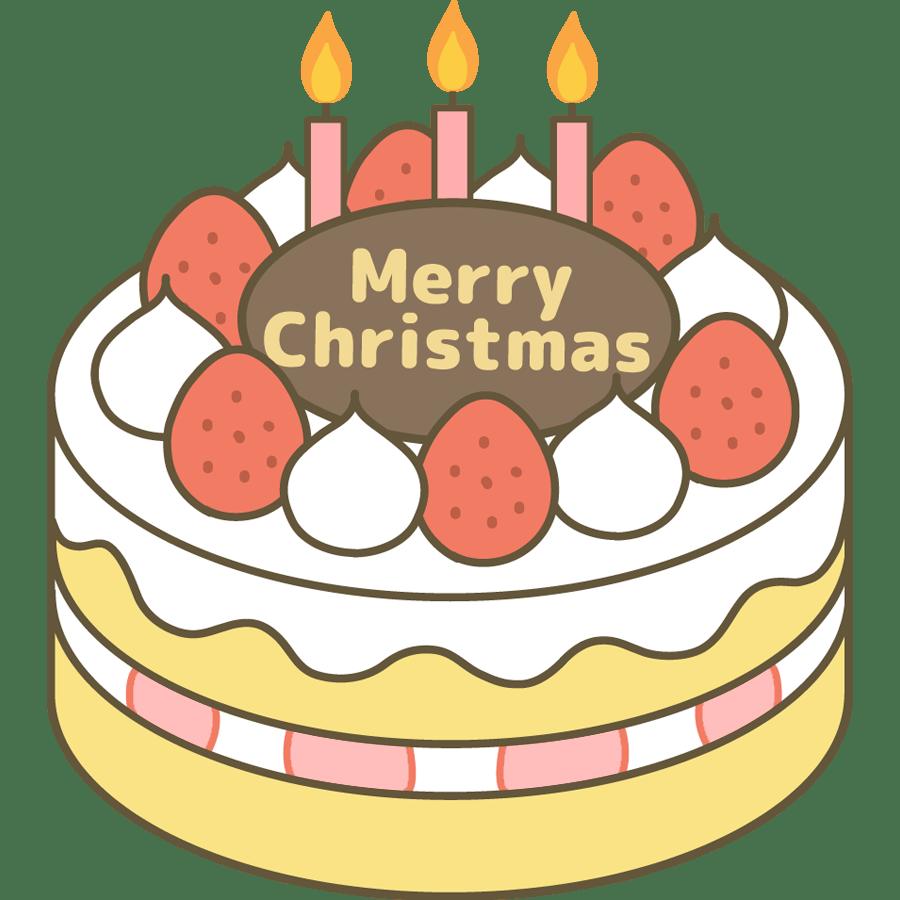 クリスマスケーキのかわいいイラスト画像素材4フリー無料