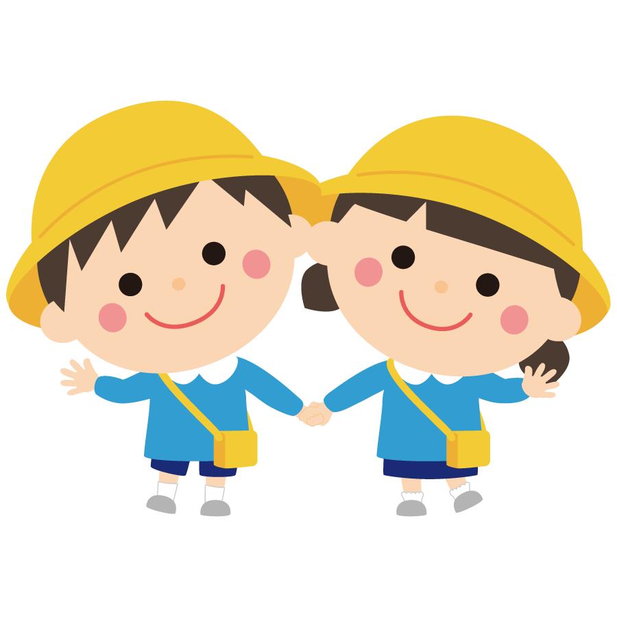 手を繋ぐ子供のかわいいイラスト画像素材無料 フリー