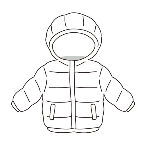 子供 ジャケット イラスト 白黒 モノクロ