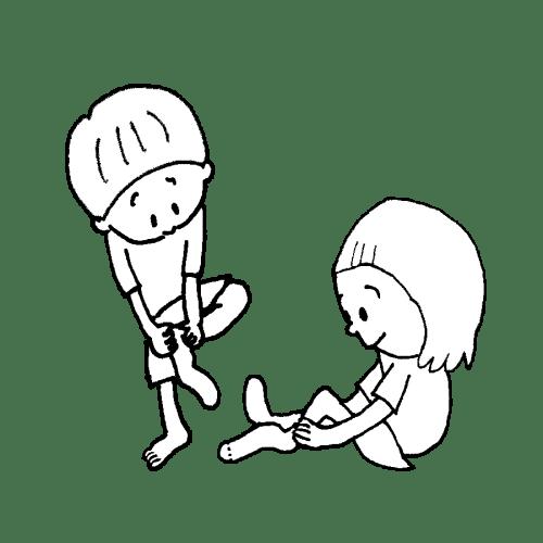 靴下 履いて 園児 かわいい イラスト フリー 無料 白黒 モノクロ