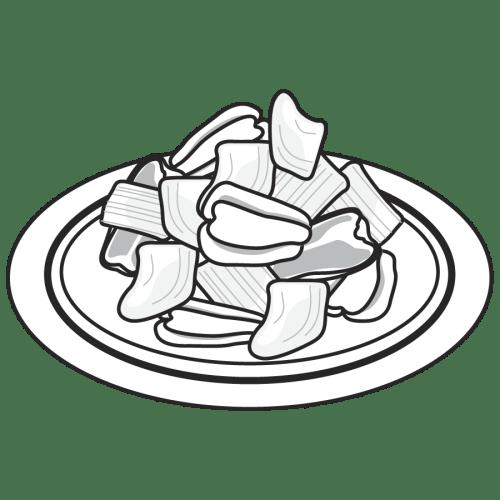ピーマン 野菜炒め かわいい イラスト フリー 無料 白黒 モノクロ