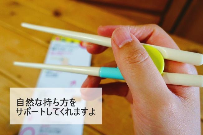 ステップアップ箸サポートのレビュー 自然な持ち方をサポート