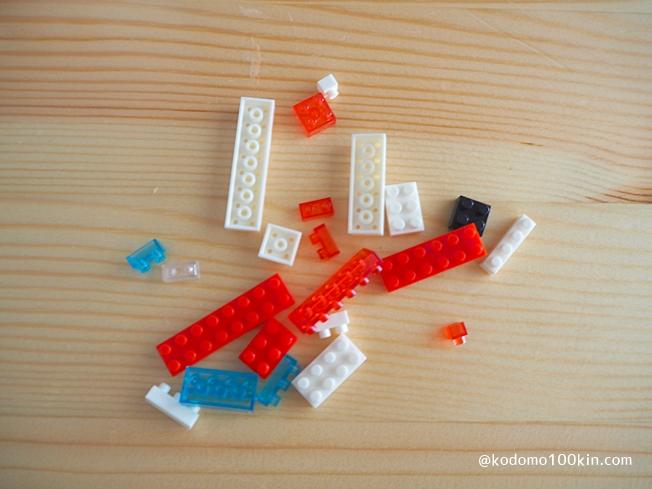 セリアのマイクロブロック 余ったパーツ