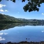 洞爺湖の水鏡
