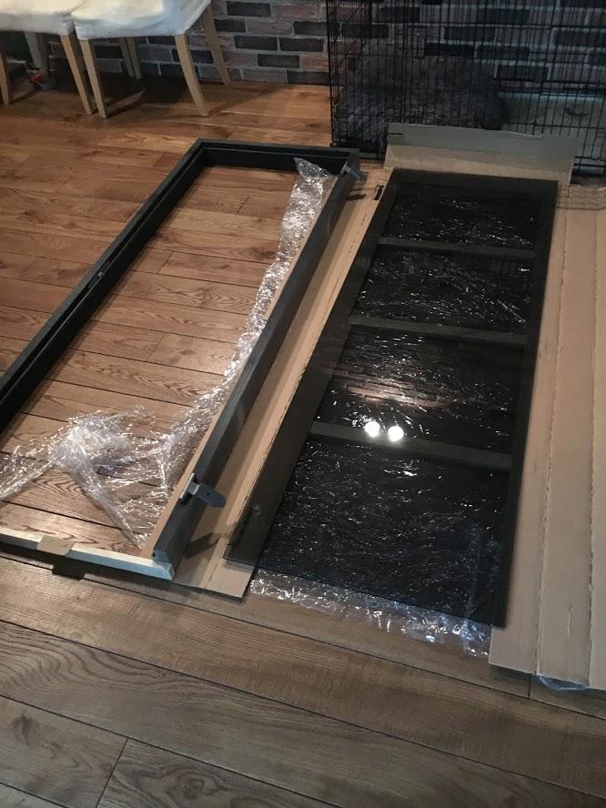 Jeld-wen saunauks halli klaasiga ja must leng