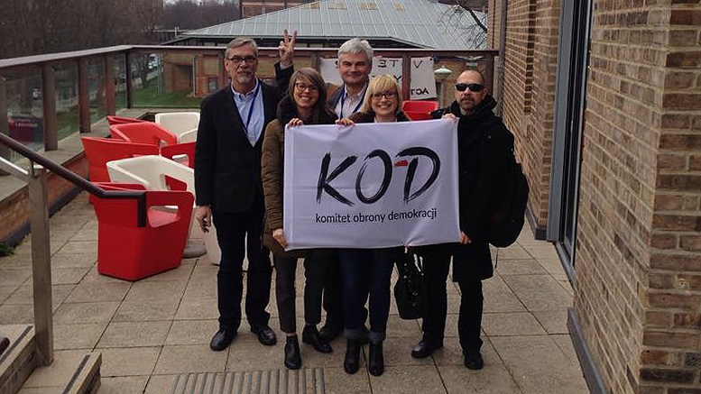Jacek Żakowski and Edwin Bendyk with our KOD UK representatives