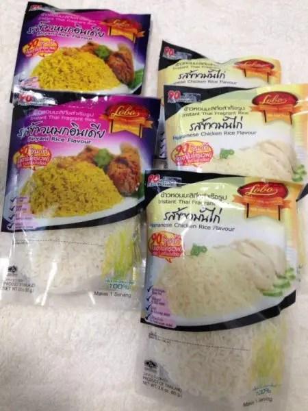 バンコクのスーパーで買ったインスタント『カオ・モック・ガイ』(ビリヤニ)