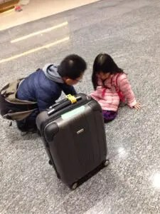 子連れスーツケース