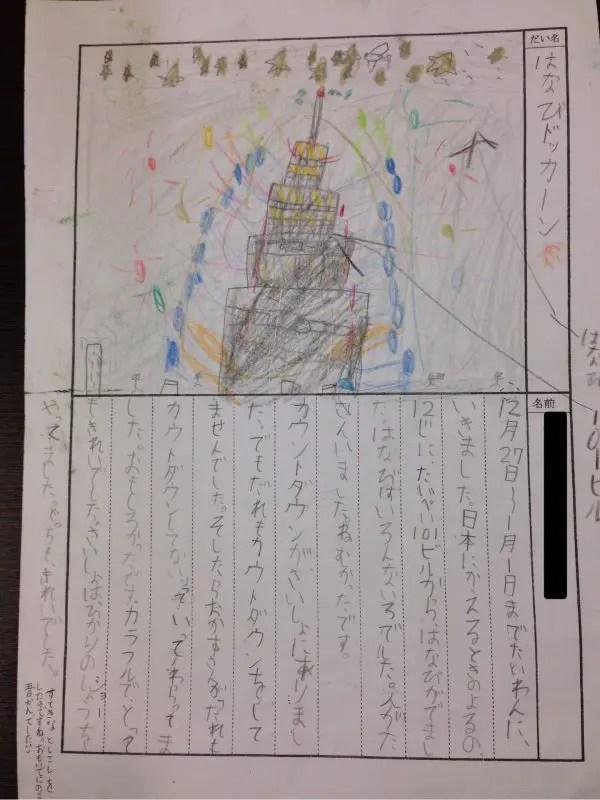 えるちゃんの年越し台湾絵日記