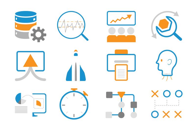 symbols created for new design concept called Purpose Driven Design (PDD)