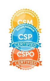 Certified ScrumMaster, Certified Scrum Product Owner, Certified Scrum Professional