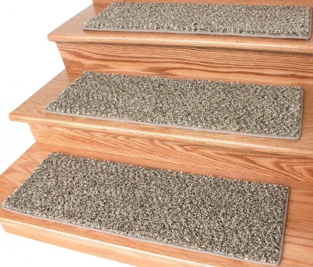 Bronzite Frieze Stair Treads | Carpet Treads For Steps | Laminate | Interior | Basement Stair Carpet | Double Thickness Tread | Turquoise