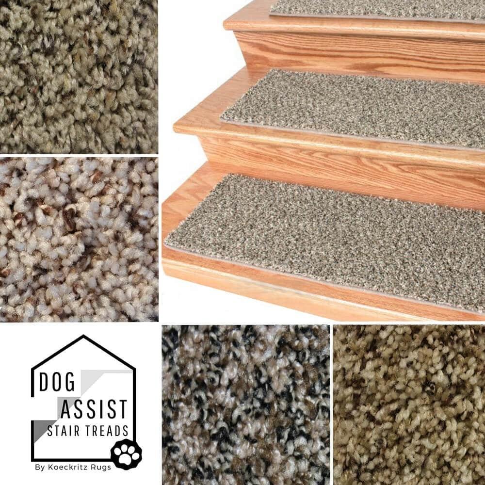 Tiger Eye Frieze Stair Treads   Thick Carpet Stair Treads   Non Slip   Cut Pile   Bullnose Carpet   Slip Resistant   Flooring