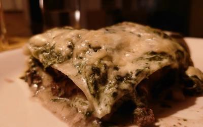 Lasagne med elgkød