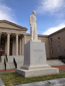 Lincoln statue front