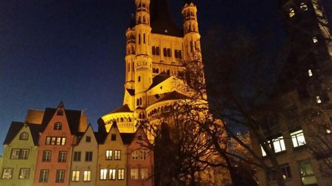 Groß St. Martin, eine der zwölf großen romanischen Kirchen der Stadt.