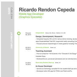 IOS Developer Resume Examples