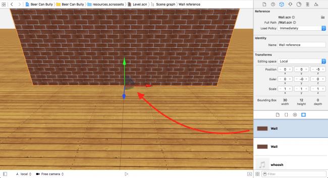 Add a Wall reference node