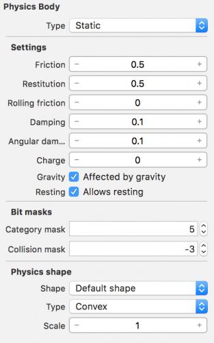 Visual Physics Settings