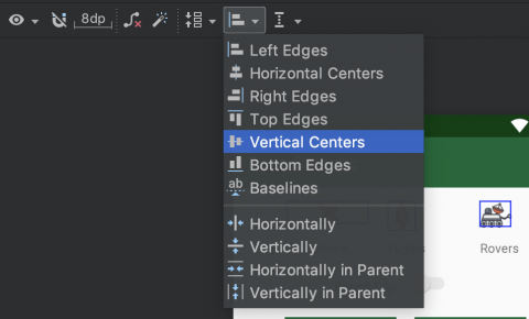 align vertical centers