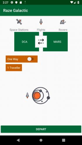 final static layout in emulator