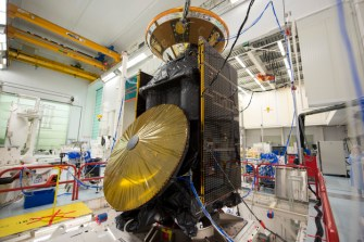 ExoMars TGO & EDM in vibration test.