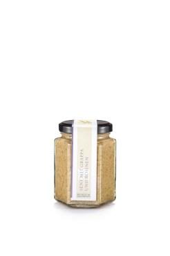 Lustenauer Senf mit Grappa und Rosinen