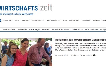 Beitrag über Köstliches aus Vorarlberg am Wirtschaftsportal wirtschaftszeit.at
