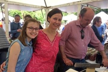Familie Lohs am Stand von Köstliches aus Vorarlberg am Genussfestival 2017 im Stadtpark in Wien