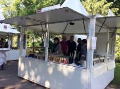 Der Stand von Köstliches aus Vorarlberg am Genussfestival 2017 im Stadtpark in Wien von außen