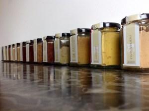 Verschiedene Senfgläser von Lustenauer Senf aus Lustenau