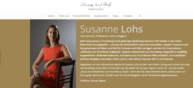 """Susanne """"schwarz auf weiss"""""""
