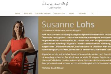 Porträt von Susanne Lohs im schwarz-auf-weiss.blog