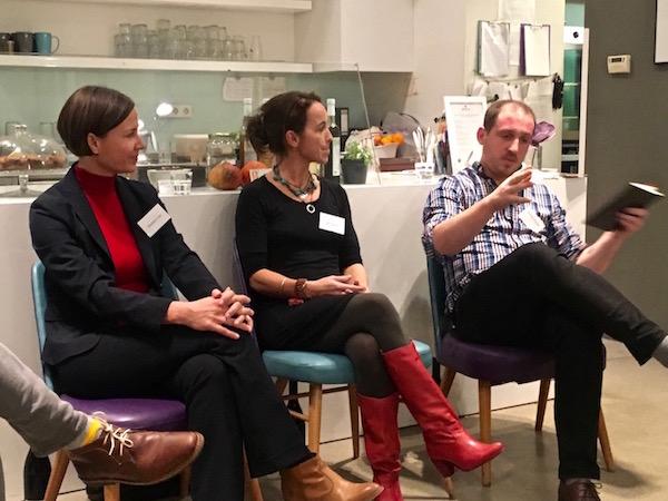 v.l.n.r.: Susanne Lohs, Dr. Julia Rakus, Richard Holmes