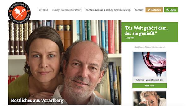 Susanne & Hardy Lohs auf der Website des Österreichischen Koch- & Genussverbandes