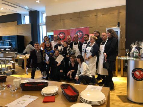 Teilnehmer und Juroren der Hobbykoch-Meisterschaft des ÖKGV im Miele Center