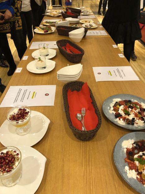 Desserts bei der Hobbykoch-Meisterschaft des ÖKGV im Miele Center