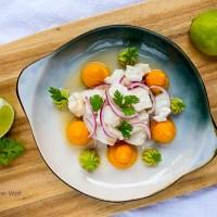 Der leckere Klassiker aus Peru - Ceviche mit Süßkartoffel-Püree und Avocadocreme