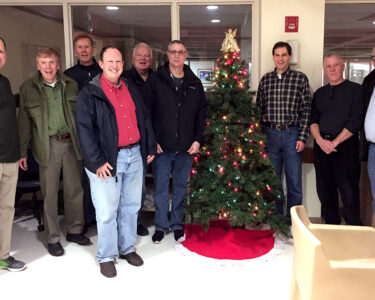 Knights of Columbus Council 2393 volunteering at the Lyon's VA Healthcare System during the Holidays in 2018