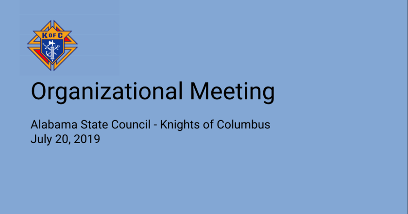 Slides from 2019 Organizational Meeting