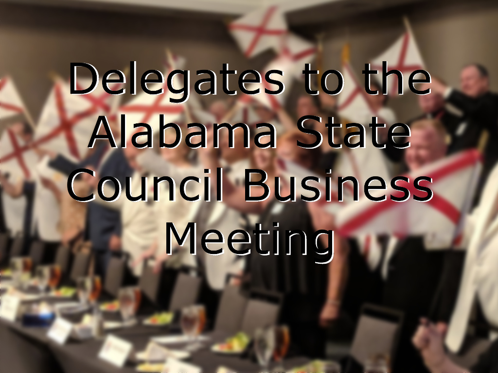 Delegates Alabama State Council